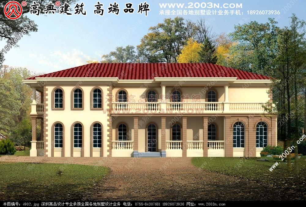 别墅建筑设计 农村别墅图纸及效果图大全 好图网 4902.jpg