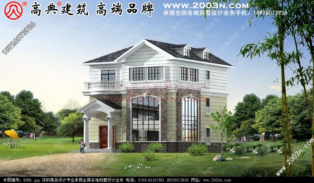 住宅自建房屋 施工图 效果 12   求农村自建三层半楼房建筑