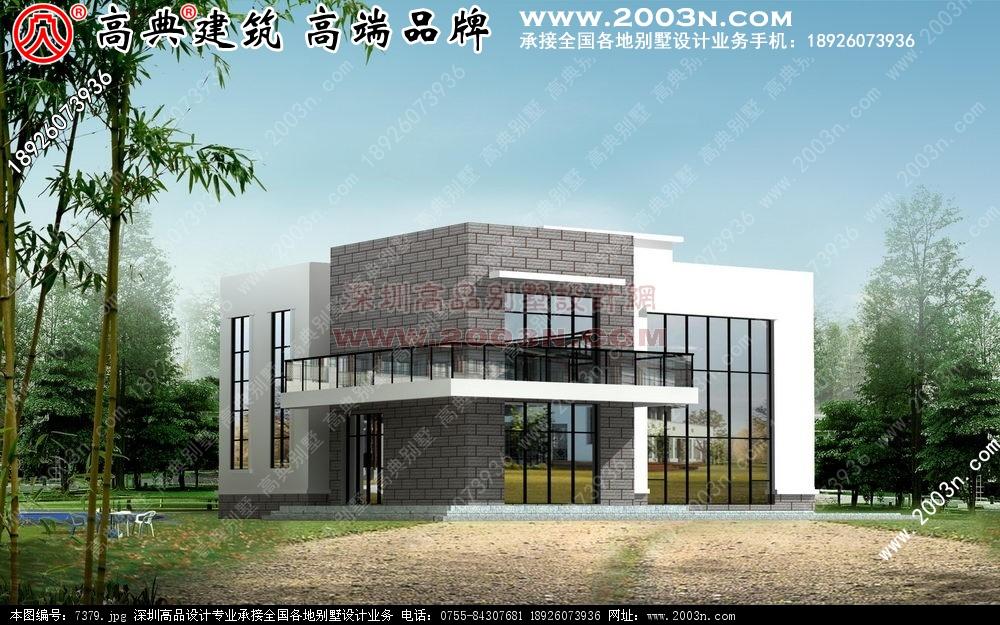 农村自建别墅效果图三层别墅设计 图4 住宅网