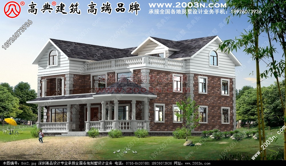 小别墅外观设计图 农村别墅图纸及效果图大全 好图网 8442
