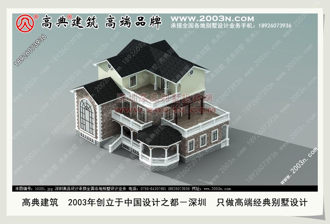 农村二层半别墅设计图纸 图1 住宅网