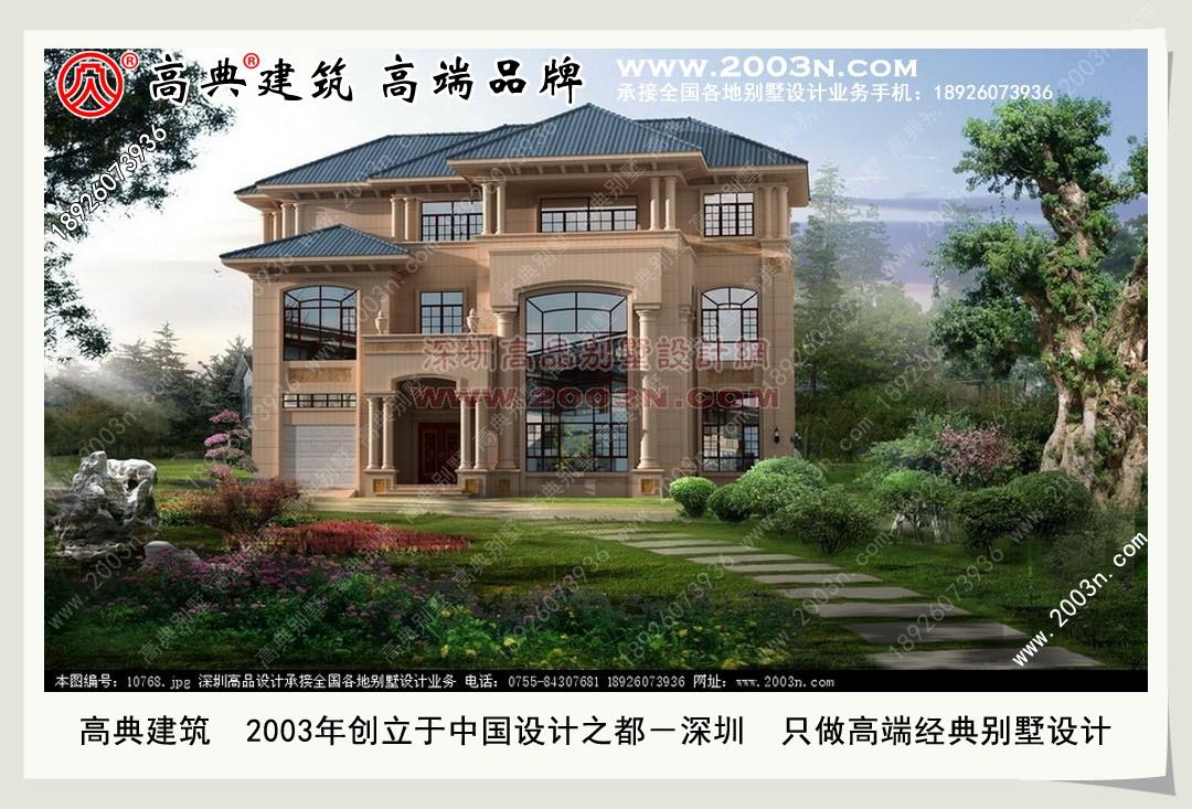别墅的外观设计图 农村别墅图纸及效果图大全 好图网 深圳