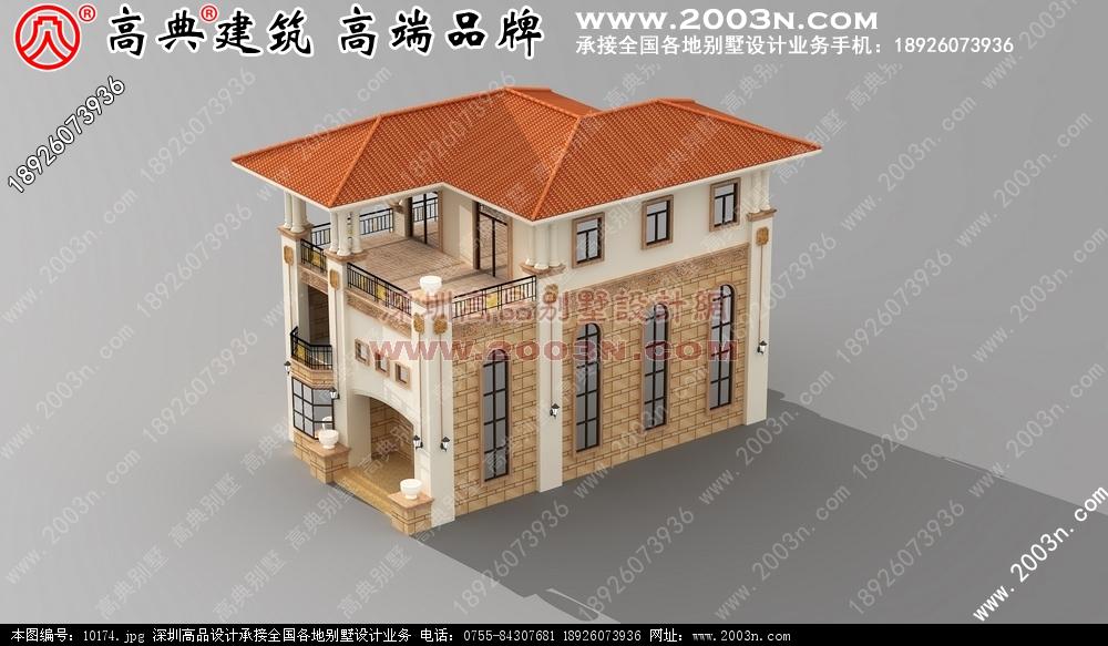 独栋别墅外观设计 农村别墅设计图 别墅效果图 别墅外观图