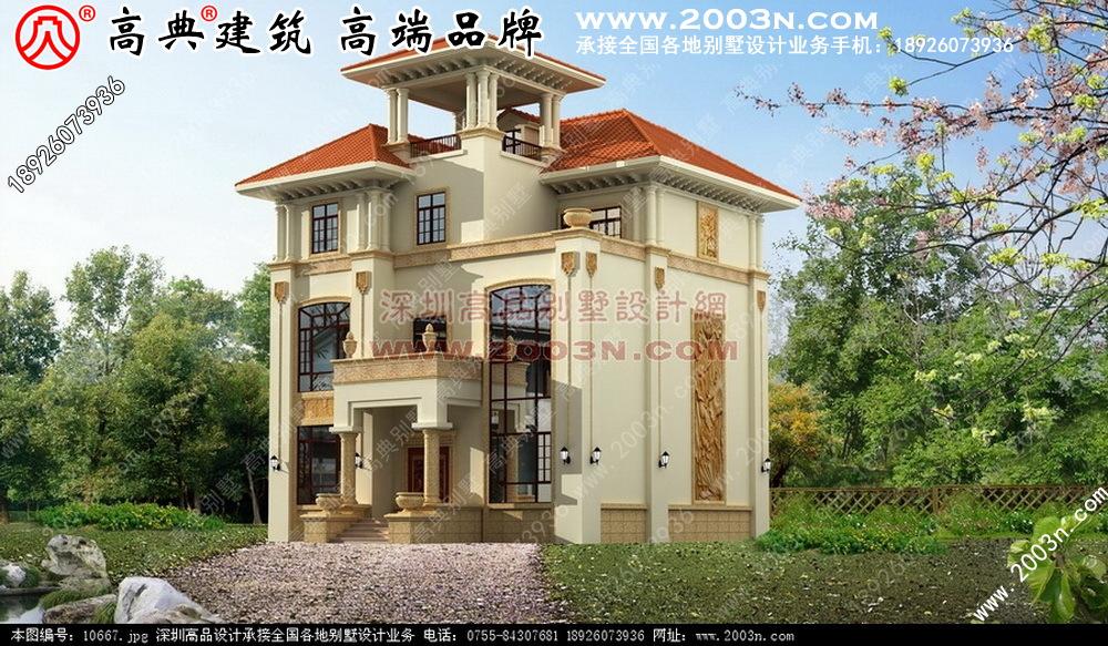 现代中式别墅装修设计 农村别墅图纸及效果图大全 好图网
