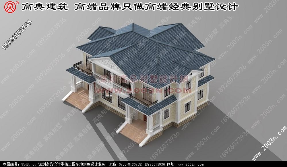 装饰效果图 农村别墅设计图 别墅效果图 别墅外观图 高清图片