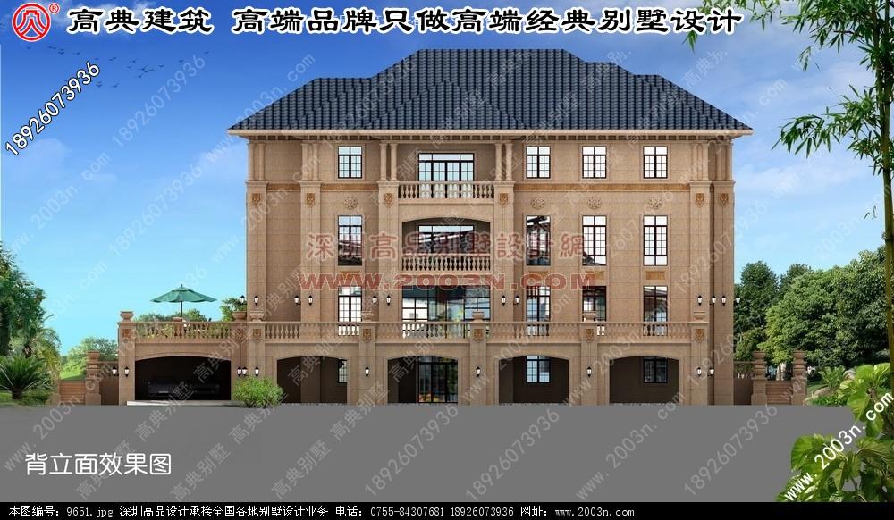 现代中式别墅装修效果图 农村别墅设计图 别墅效果图 别墅