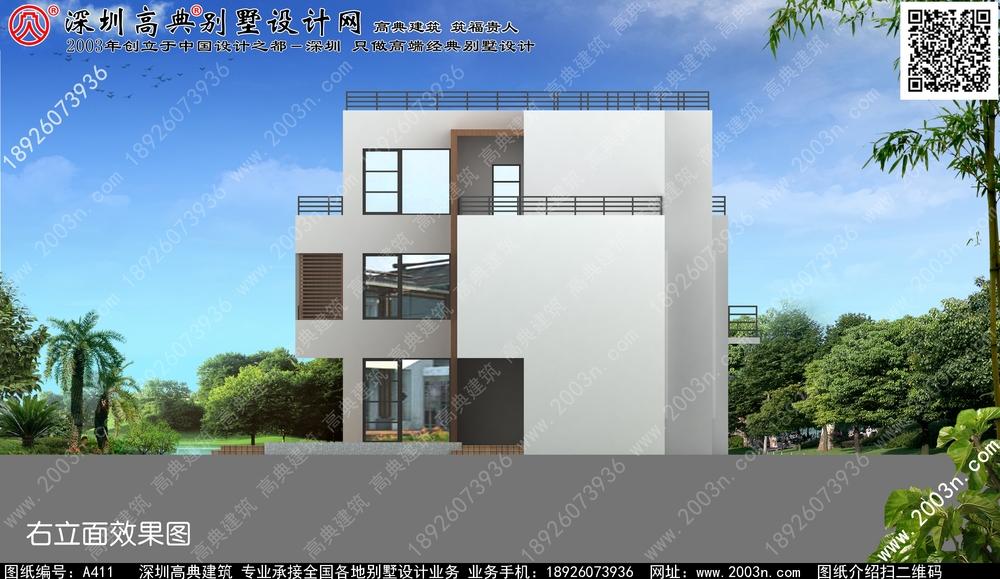 三层农村欧式层独栋别墅150平方